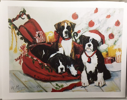 Ruth Maystead Christmas Cards - Boxer (BOX1X)