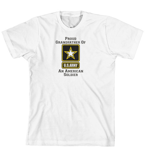 T-Shirt - Proud Grandfather of an American Soldier (170-0058-013)