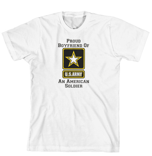 T-Shirt - Proud Boyfriend of an American Soldier (170-0058-007)