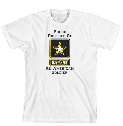 T-Shirt - Proud Brother of an American Soldier (170-0058-001)