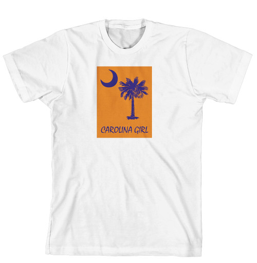 T-Shirt - Carolina Girl Palmetto & Moon, Solid Background (170-0061-005)