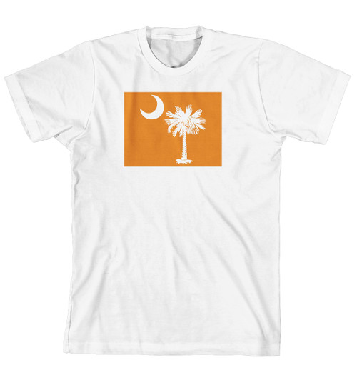 T-Shirt - Palmetto Tree and moon on Solid Background (170-0076-002)