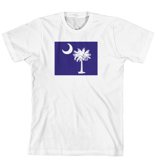 T-Shirt - Palmetto Tree and moon on Solid Background (170-0076-004)
