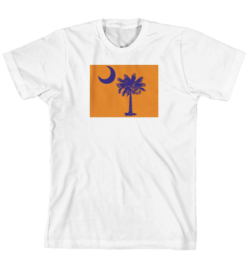 T-Shirt - Palmetto Tree and moon on Solid Background (170-0076-005)