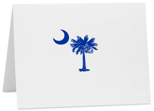 Palmetto Moon SC Logo Note Cards with Envelopes (Available in Multiple Colors) CC-10375