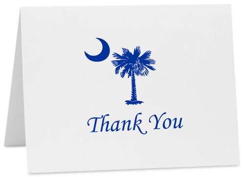 Palmetto Moon SC Logo Thank You Cards with Envelopes (Available in Multiple Colors) (CC-10376)