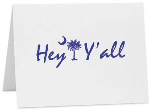 Hey Y'all Palmetto Moon SC Logo Note Cards with Envelopes (Available in Multiple Colors) CC-10375