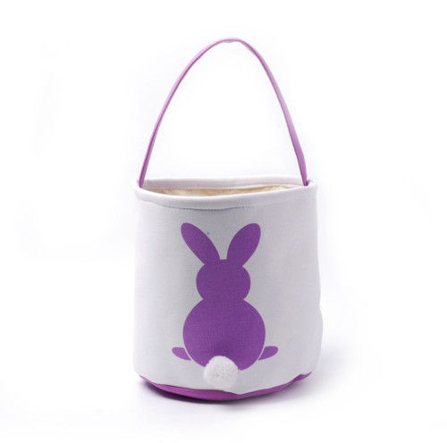 Collapsible Easter Basket - Bunny with Cotton Tail - Lavender Purple (DOM-DOM784-Purple)