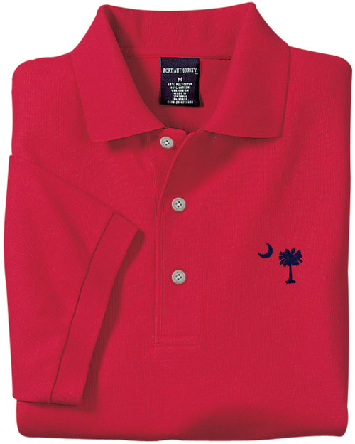 Palmetto Moon Polo Shirt - Red