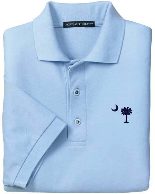 Palmetto Moon Polo Shirt - Carolina Blue