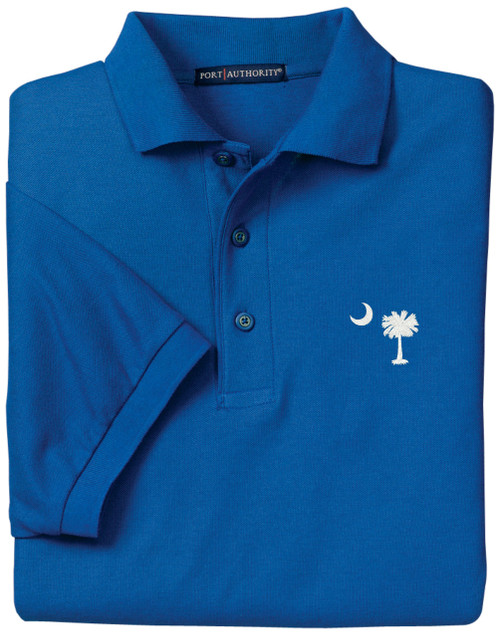 Palmetto Moon Polo Shirt - Mediterranean Blue