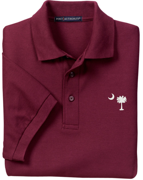 Palmetto Moon Polo Shirt - Burgundy Garnett