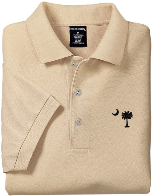 Palmetto Moon Polo Shirt - Stone