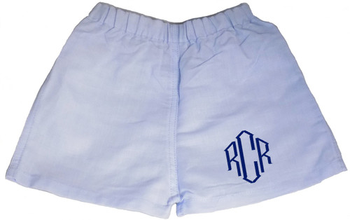 Personalized Infant Boxer Shorts - Blue