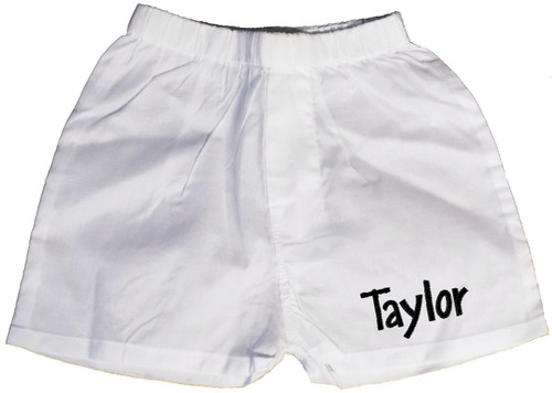 Personalized Infant Boxer Shorts - White