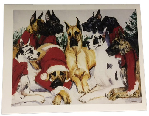 Ruth Maystead Christmas Cards - Great Dane  (GRD12X)