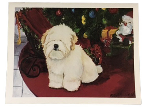 Ruth Maystead Christmas Cards - Lhaso Apso (LHA1X)