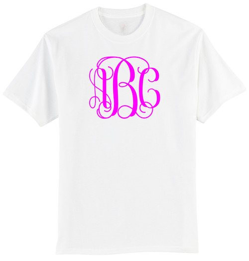 Vine Monogram Personalized T-Shirt (Available in Many Colors) (MonoTee)