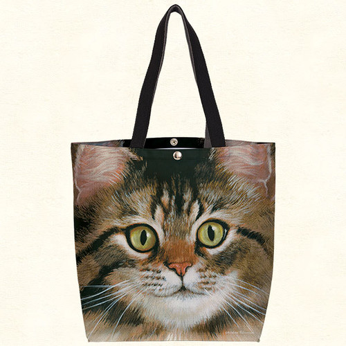 Fiddlers Elbow Tabby Cat Oil Cloth Tote (T803)