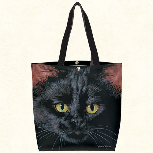 Fiddlers Elbow Black Cat Oil Cloth Tote (T804)