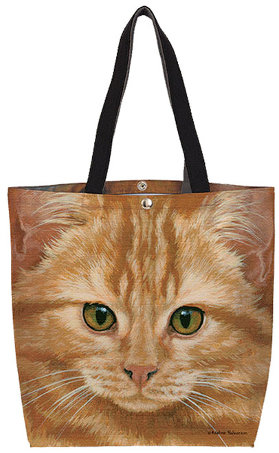 Fiddlers Elbow Orange Tabby Oil Cloth Tote (T812)