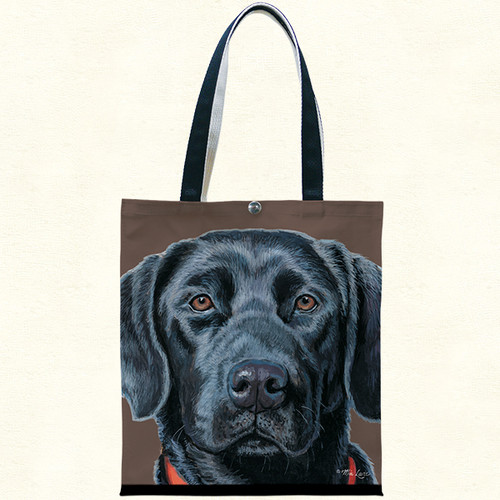 Fiddlers Elbow Black Labrador Retriever Lab Cotton Canvas Tote (T901)