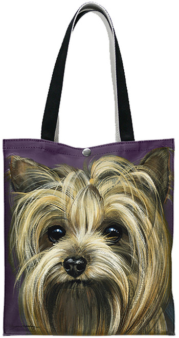 Fiddlers Elbow Yorkshire Terrier Yorkie Cotton Canvas Tote (T902)