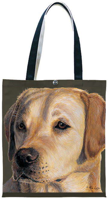 Fiddlers Elbow Yellow Labrador Retriever Lab Cotton Canvas Tote (T907)