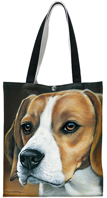 Fiddlers Elbow Beagle Cotton Canvas Tote (T909)