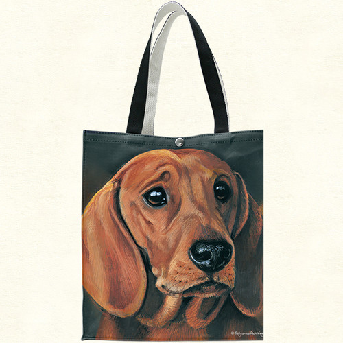 Fiddlers Elbow Dachshund Cotton Canvas Tote (T905)