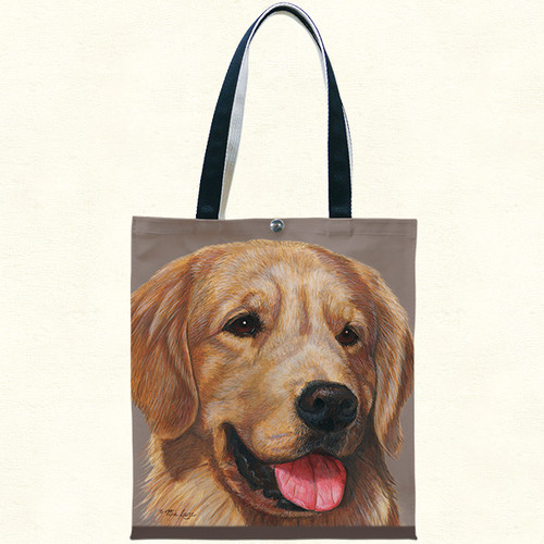 Fiddlers Elbow Golden Retriever Cotton Canvas Tote (T904)