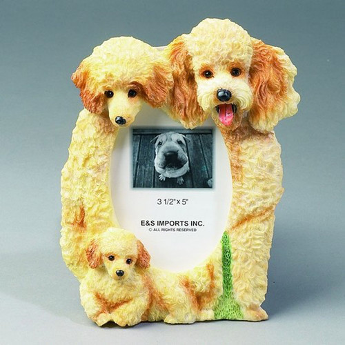 E&S Imports 3x5 Picture Frame - Apricot Poodle (3525768A)