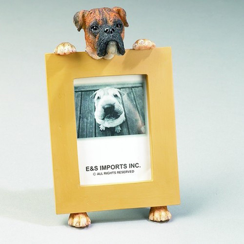 E&S Imports 2.5in x 3.5in Picture Frame - Boxer (Brindle) (35315-71)