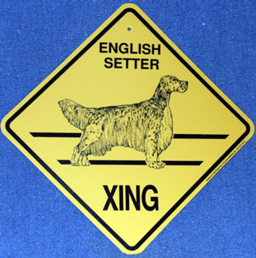 Yellow Xing Crossing Sign - English Setter (KC-2329)