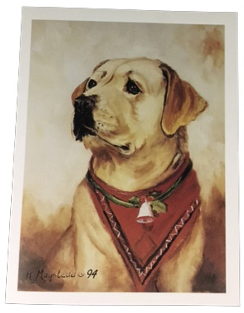 Ruth Maystead Christmas Cards - Yellow Lab (RLA8X)