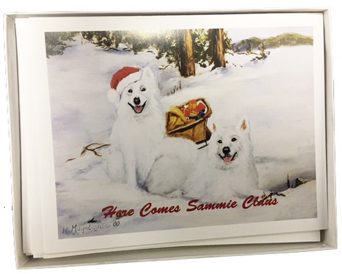 Ruth Maystead Christmas Cards - Samoyed (SAM7X)