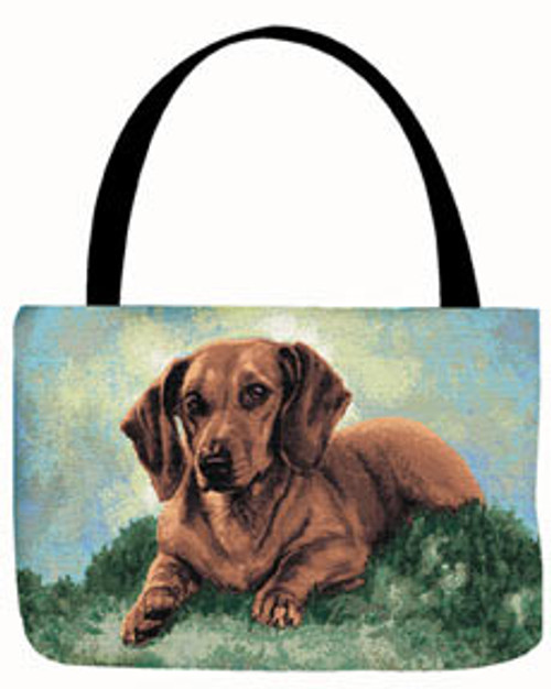 Manual Woodworkers 17 Inch Linda Pickens Dachshund Tote Bag (OTPDAC)