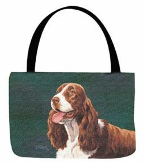 Manual Woodworkers 17 Inch Linda Pickens Springer Spaniel Tote Bag (OTPSS)