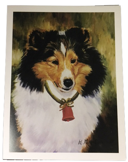 Ruth Maystead Christmas Cards - Sheltie (Shetland Sheepdog) (SHS7X)