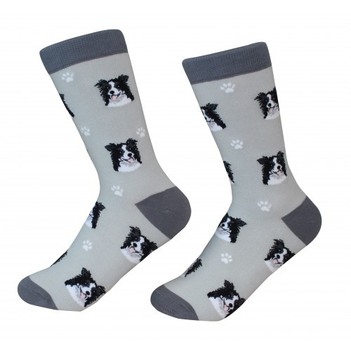 E&S Imports Pet Lover Unisex Socks - Border Collie (800-5)