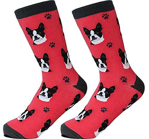 E&S Imports Pet Lover Unisex Socks - Boston Terrier (800-76)