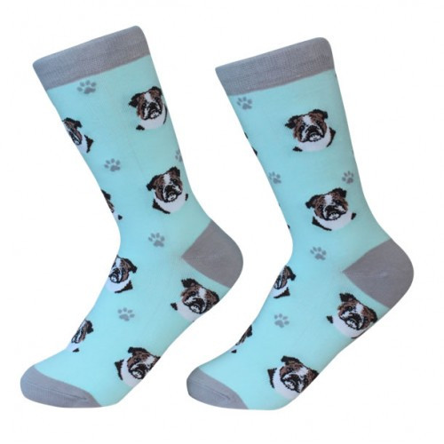 E&S Imports Pet Lover Unisex Socks - Bulldog (800-8)