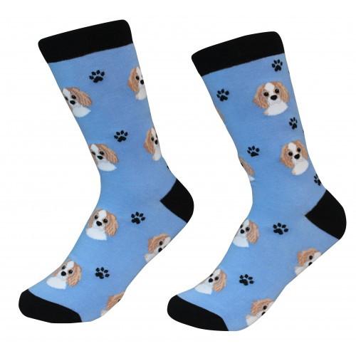 E&S Imports Pet Lover Unisex Socks - Cavalier King Charles Spaniel (800-18)