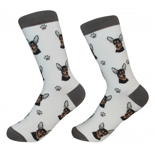 E&S Imports Pet Lover Unisex Socks - Chihuahua (black) (800-11)