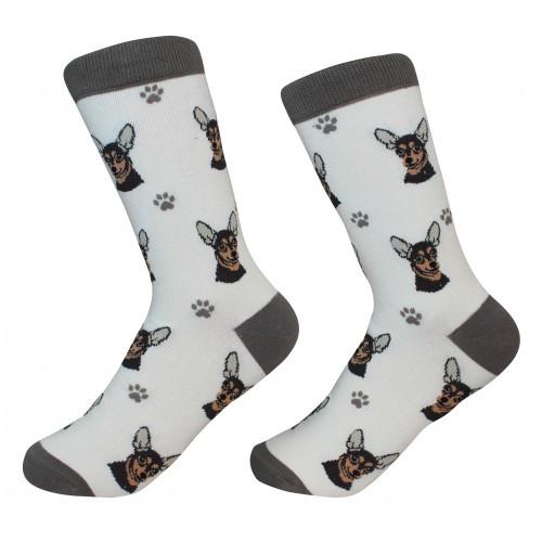 E&S Imports Pet Lover Unisex Socks - Chihuahua (black) (800-11)
