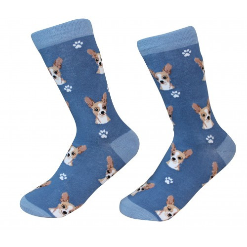 E&S Imports Pet Lover Unisex Socks - Chihuahua (fawn)
