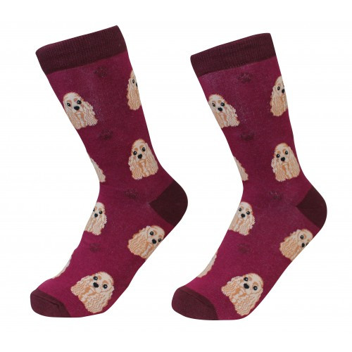 E&S Imports Pet Lover Unisex Socks - Cocker Spaniel (E800-78)