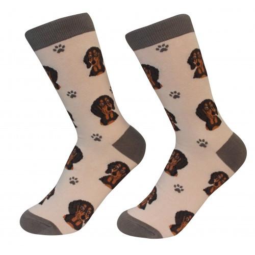 E&S Imports Pet Lover Unisex Socks - Dachshund (black) (800-14)