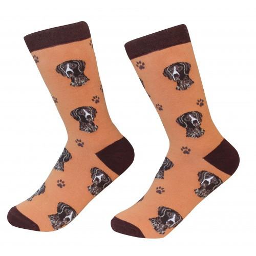 E&S Imports Pet Lover Unisex Socks - German Shorthaired Pointer (800-83)