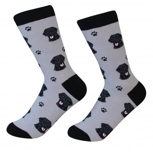 E&S Imports Pet Lover Unisex Socks - Labrador Retriever (black) (800-21)